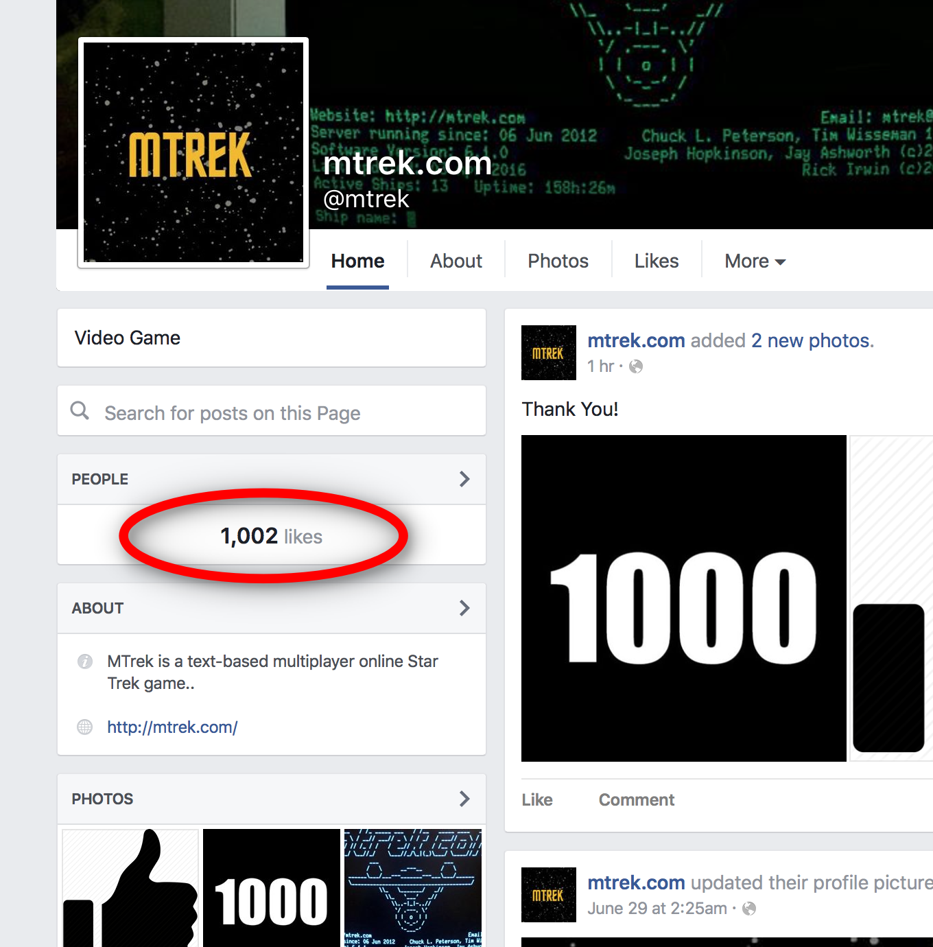 1000 likes!